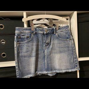 Short denim skirt. Worn it twice. Good for over bathers